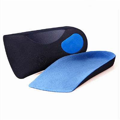 3D Orthotic Flats Feet Foot High Arch Gel Heel Support Shoe Inserts Insoles Pads 3