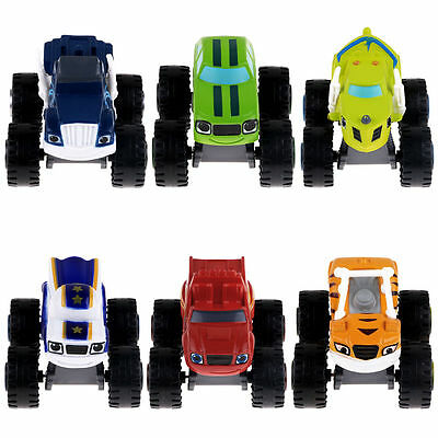 6x Blaze and the Monster Machines Vehicles Diecast Toy Racer Cars Trucks Kid Set 3