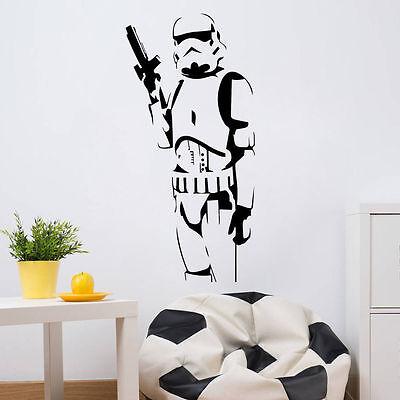 Wall Sticker Stormtrooper Star Wars Removable Decal Vinyl Mural art Home Decor 2