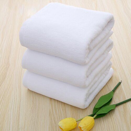 "Soft 70*140cm Luxury Hotel Spa Bath Towel Warmer Cotton White Towels#"" 6"