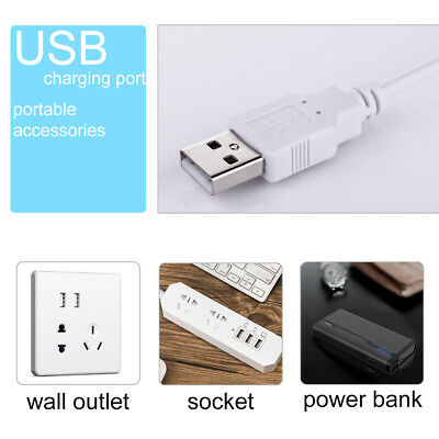 Flexible USB Table Reading Book Lamp 48 LED 5W Light Dimmable Clip-On Desk 8