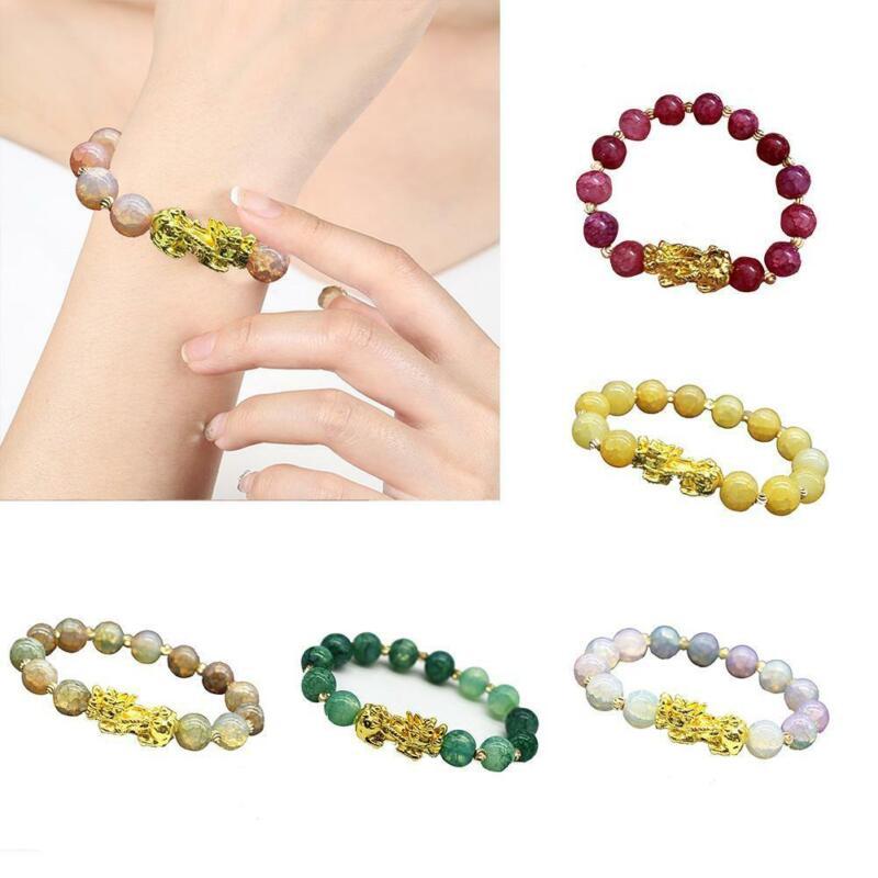 Pixiu Chinese Good Lucky Charm Feng Shui Pi Yao Wealth Bracelets Jade Jewelry 8