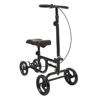 ELENKER All-Road Knee Walker Steerable Madical Scooter Crutch Alternative Black 3
