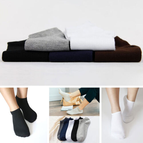 5 Paire Homme Chaussettes Socquettes Sock Sport Cheville Court Coton Comfortable 6