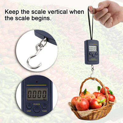 Portable LCD Digital Travel Scale Suitcase luggage Weight 50KG 10G Hanging Scale 3