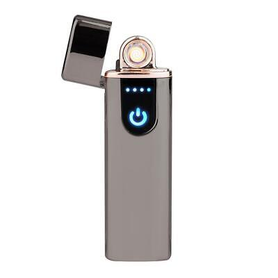 Electric Lighter Usb Rechargable Windproof Flameless Finger Print Gentle Touch 10