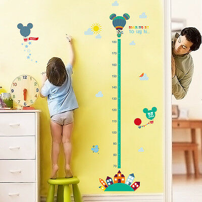 MICKEY MINNIE MOUSE Balloon Height Measurement Chart Kids Wall ...