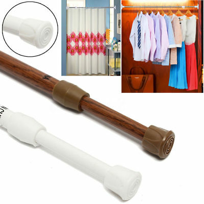 Extendable Telescopic Spring Loaded Net Voile Tension Curtain Rail Pole Rod Rods 4