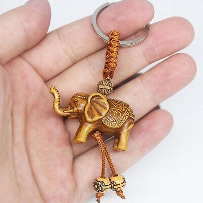 2pcs Suerte Elefante Tallado Colgante Llavero Evil Defends Regalo Gracious 4