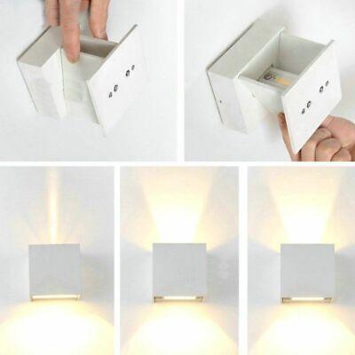 Applique Cubo Led 6W Faro Faretto Lampada Da Parete Muro Doppia Luce Per Esterno 3