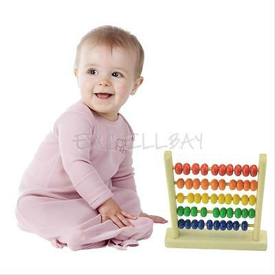 WOODEN BEADS Abacus Counting Numbers Maths Educational Children Kid ...