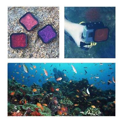 Diving Filter Underwater Red Magenta Snorkel Color Filters for GoPro HERO5 6 7 7