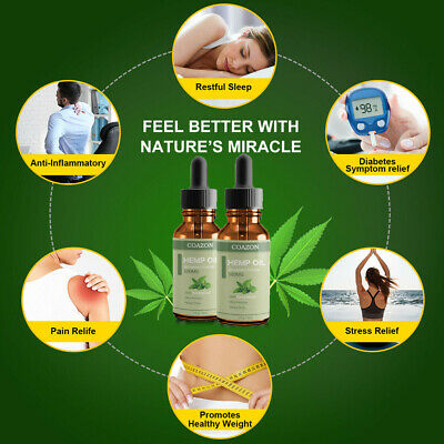 Organic Hemp Oil for Pain Relief Sleep Aid Anti Stress 5000mg Extract Drops 11