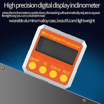 Digital 360 Protractor Electronic Inclinometer Meter 360° Magnetic Meter GB 10