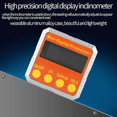 Electronic Angle Gauge Meter Digital Inclinometer Protractor 360° Magnetic Base 10