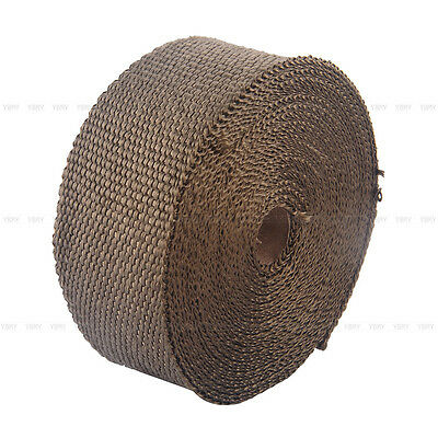 2000F EXHAUST HEAT WRAP TITANIUM Gold 10M X 50MM  + 10 STAINLESS TIES INSULATION 8