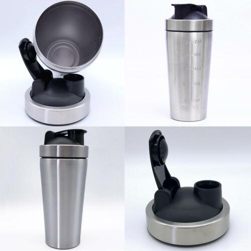 Protein Supplement Drink Blender Shaker Shake Mixer Cup Stainless Steel