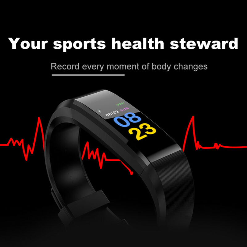 Fitness Smart Watch Activity Tracker WomenMen Kids Fitbit Android iOS Heart Rate 3