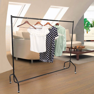 Super Heavy Duty Garment Clothes Rail Metal Garment Hanging Display Stand Rack 5