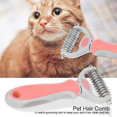 Pet Cat Dog Dematting Grooming Deshedding Trimmer Tool Hair Comb Brush Rake Hot 2