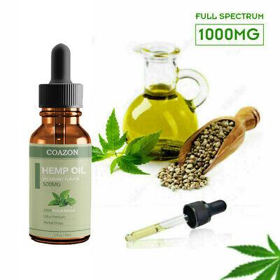 Organic Hemp Oil for Pain Relief Sleep Aid Anti Stress 5000mg Extract Drops 3
