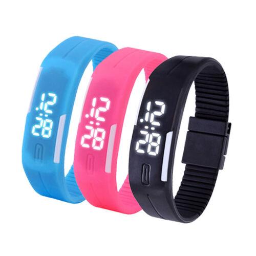 Multifunction LED Sport Electronic Digital Wrist Watch For Child Boys Girls Kids 7