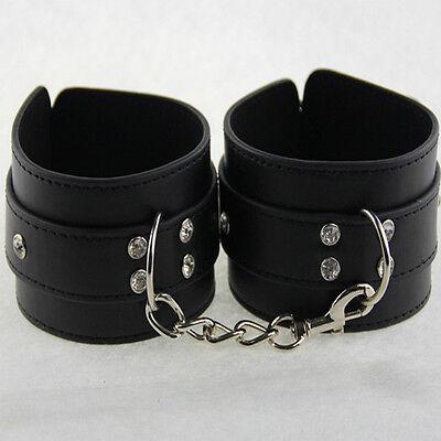 Luxus Leder Handschellen Handfesseln Fußfesseln Halsband Sexspielzeug Adult Neu 3
