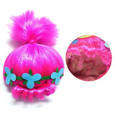 Adult Girl Bundle Blue Dress Pink Wig Cosplay Trolls Poppy Party HC-072 HW-2704