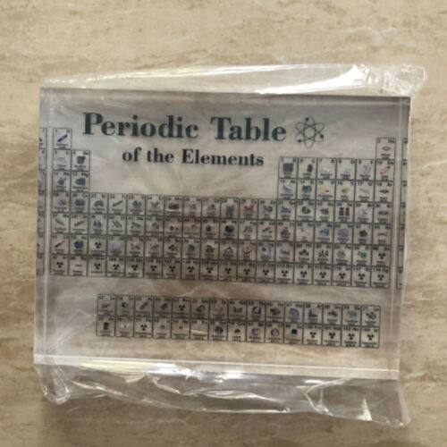 17X12cm Periodic Table Display with Elements Acrylic Student Teacher Gift Desk 8