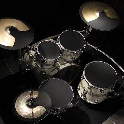 10Pcs Rubber Foam Bass Snare Drum Sound Off Quiet Mute Silencer Practice Pad AU 6