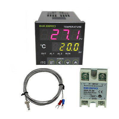 INKBIRD Digital Thermostat PID Temperature Controller K sensor SSR 240v 220V  UK 3