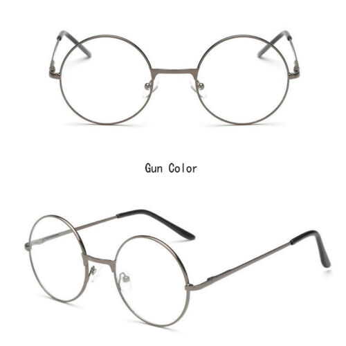 Unisex Big Round Gold Metal Frame Clear lens Vintage Retro Geek Fashion Glasses 12 12 of 12 See More