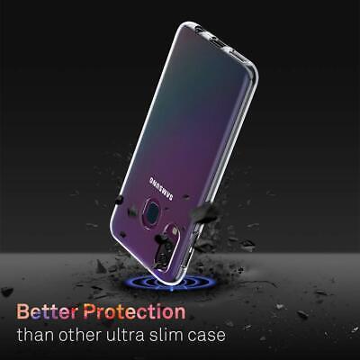Cover Custodia + Pellicola Vetro Temperato Per Samsung A40 A 40 Trasparente 5