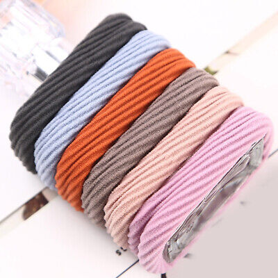 Thick Lady Rubber Band Ponytail Thread Hair Ring Rope Elastic Hair Bands 2