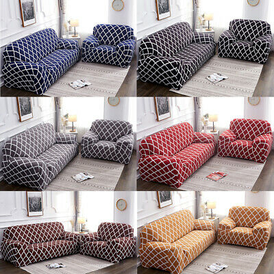 Universal Stretch Chair Sofa Covers 1 2 3 4 Seater Protector Couch Slipcover US 4