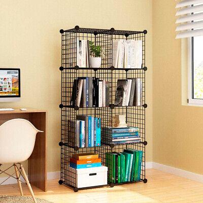 Estanteria Modular Metalica Libreria Baño 8 Cubos Moderna armario pared vitrina 5