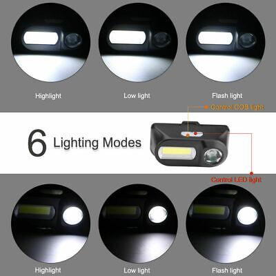 6 Modes USB Rechargeable COB LED Headlamp Headlight Head Light Torch Flashlight 4