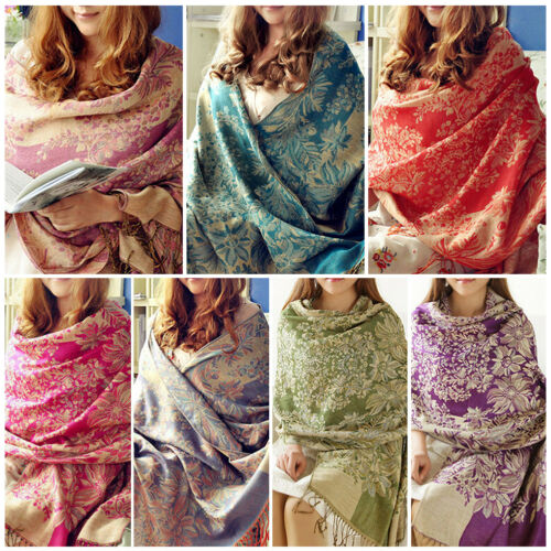 Lady Women Long Warm Cashmere Scarf Wrap Large Winter Shawl Stole Pashmina 2