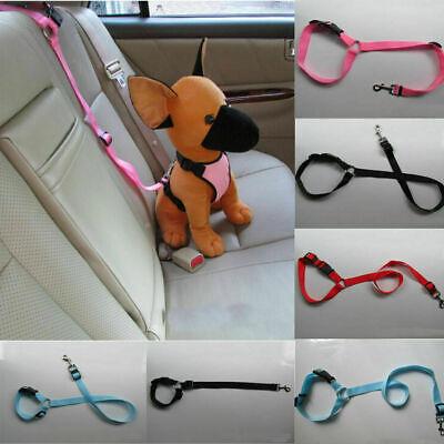 Adjustable Pet Dog Travel Seat Belt Clip Lead For Car Safety Restraint Harness U 2