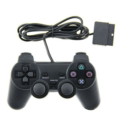 1 Pack PS2 Wired Controller Compatible for Sony PS2 Playstation 2 - Black 2