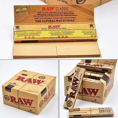 Raw Classic Connoisseur Kingsize Slim Papers + Tips - Smoking Tobacco Rolling 5