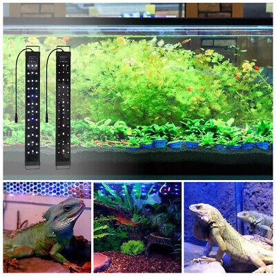 60 90 120cm Aquarium LED Light Full Spectrum Touch Switch Plant Fish Tank Lamp 2