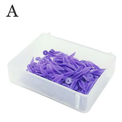 100x Dental Disposable Plastic Poly-Wedges with Holes Round Stern Wave 4 Sizes 5