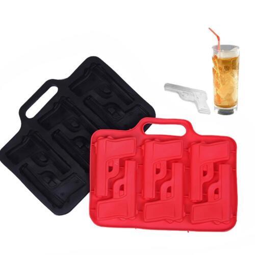 3D Pistolen Eiswürfel Party Eiswürfelform Pistole Silikon Eiswürfelbereiter.Sale