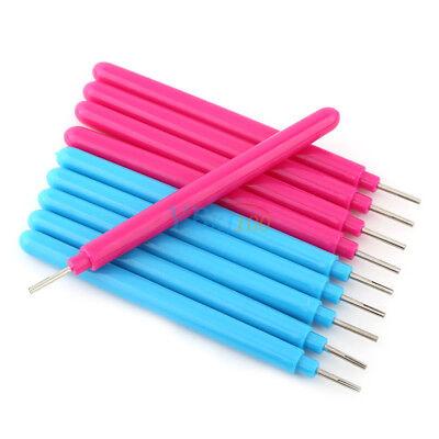 10Pcs Economic Papercarft Plastic Slotted Paper Quilling Tools DIY Curling Pen 5