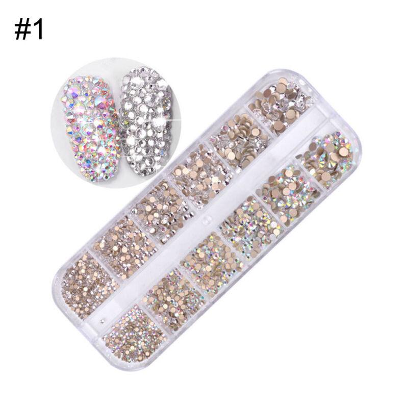 1440pcs Flat Back Nail Art Rhinestones Glitters Diamonds 3D Tip Manicure Decor 6