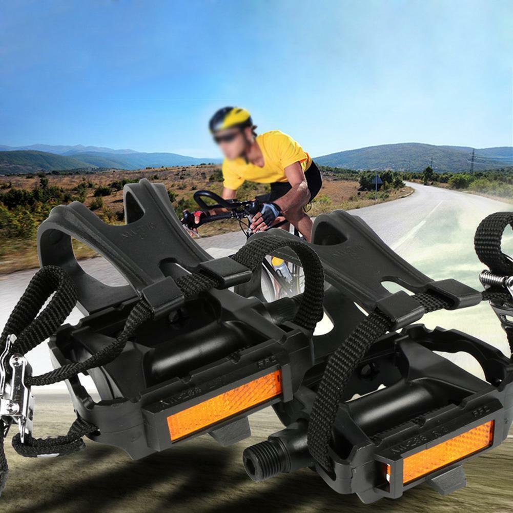 Rennrad Fahrrad Pedale mit Pedalhaken gezackte Trittfläche Haken Riemen Fixy