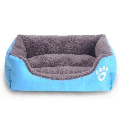 Large pet kennel dog mat cat bed washable candy color square nest soft warm mat 6