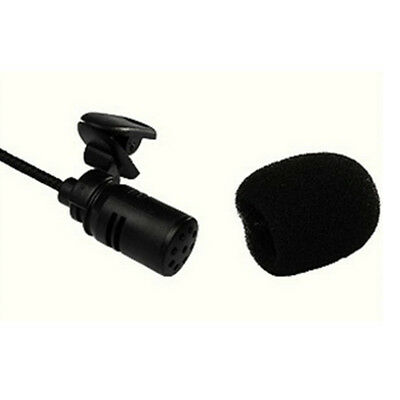 Clip On Lapel Microphone Hands Free Wired Condenser Mini Lavalier Mic 3.5mm Hot 6