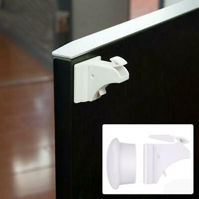 Baby Safe Magnetic Cabinet Locks Invisible Cupboard Drawer No Screws Needed Lot 3